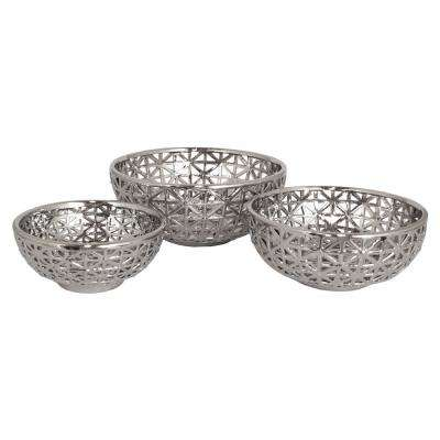 5 in. Plated Ceramic/Pierced Bowl Set