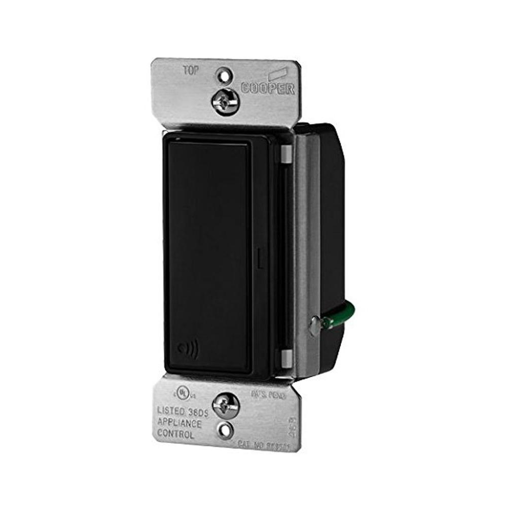 Aspire 15 Amp 120-Volt Single Pole RF Wireless Light Switch, Black