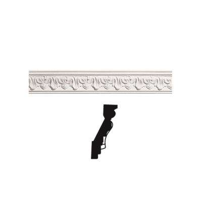 5/8 in. x 2-3/4 in. x 96 in. Primed Polyurethane Verona Crown Moulding