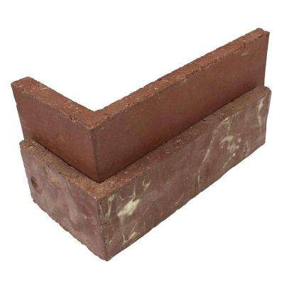 Colonial Collection Independence 5.5 lin. ft. 2-1/4 in. x 7-5/8 in. x 1/2 in. Clay Thin Brick Corners (Box of 25)
