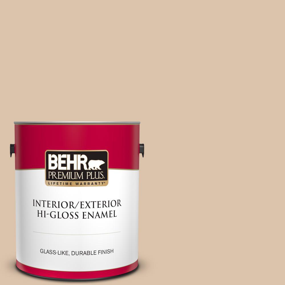 Behr Premium Plus 1 Gal T14 13 Grand Soiree Hi Gloss Enamel Interior Exterior Paint 805001 The Home Depot