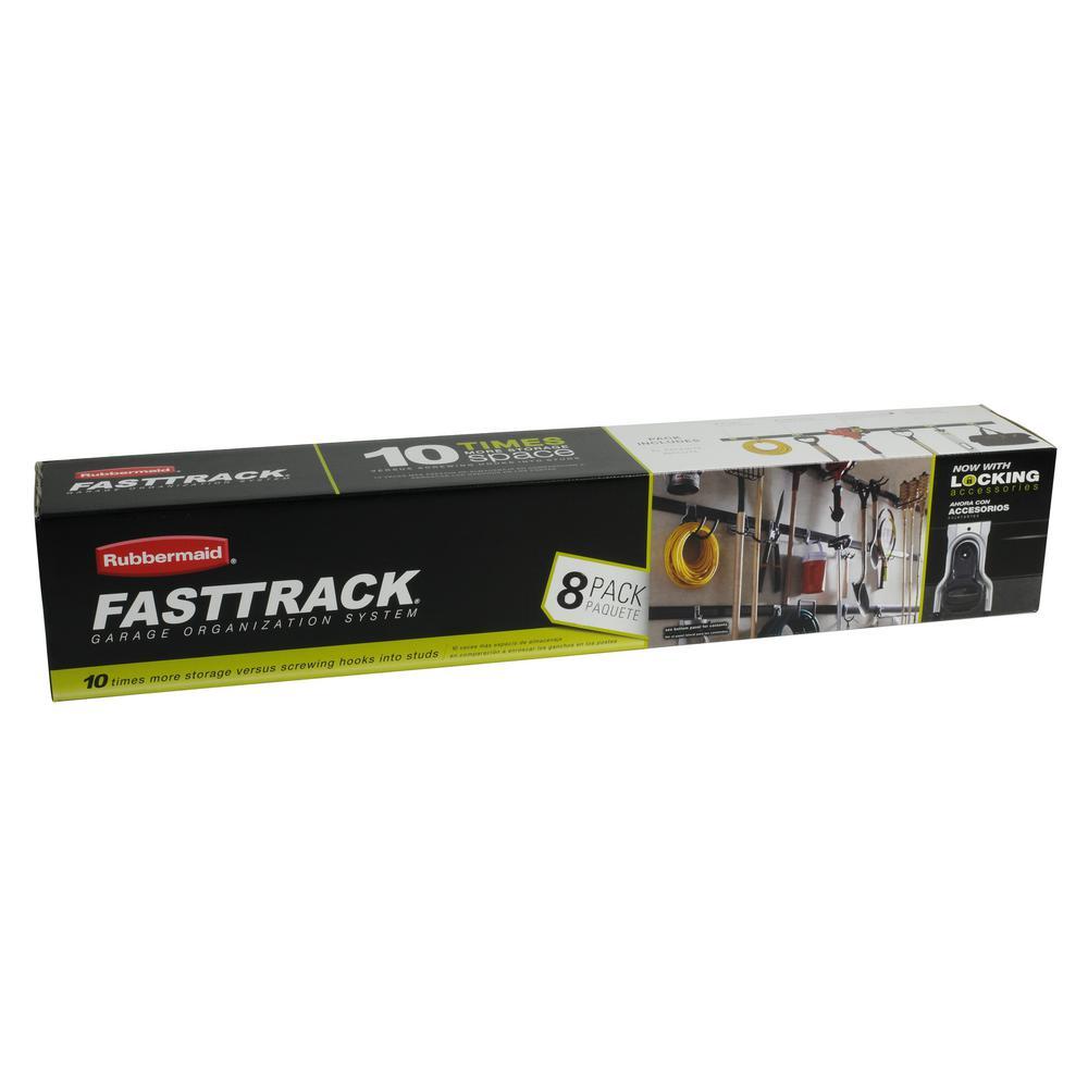 FastTrack Garage Storage Rail System All-In-1 Kit (8-piece)
