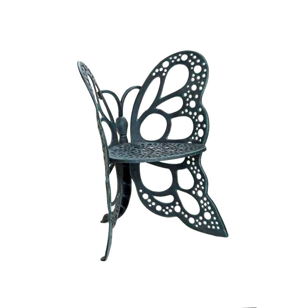 Popular FlowerHouse Antique Butterfly Patio Chair-FHBC205A - The Home Depot UV82