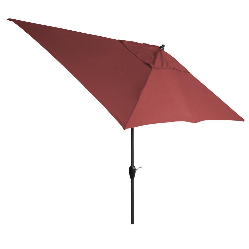 10 ft. Aluminum Tilt Patio Umbrella in CushionGuard Aubergine