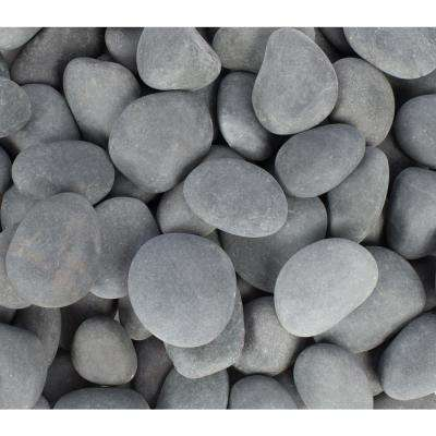 0.4 cu. ft. 1 in. - 3 in. Gray Mexican Beach Pebble (64-Pack Pallet)