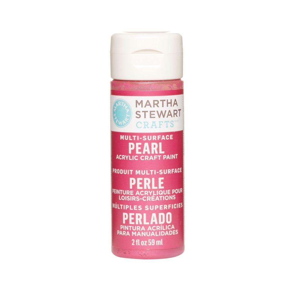 Martha Stewart Crafts 2-oz. Fruit Punch Multi-Surface Pearl Acrylic Craft Paint