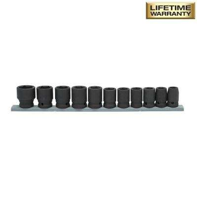 1/2 in. Drive Standard Metric Impact Socket Set (11-Piece)