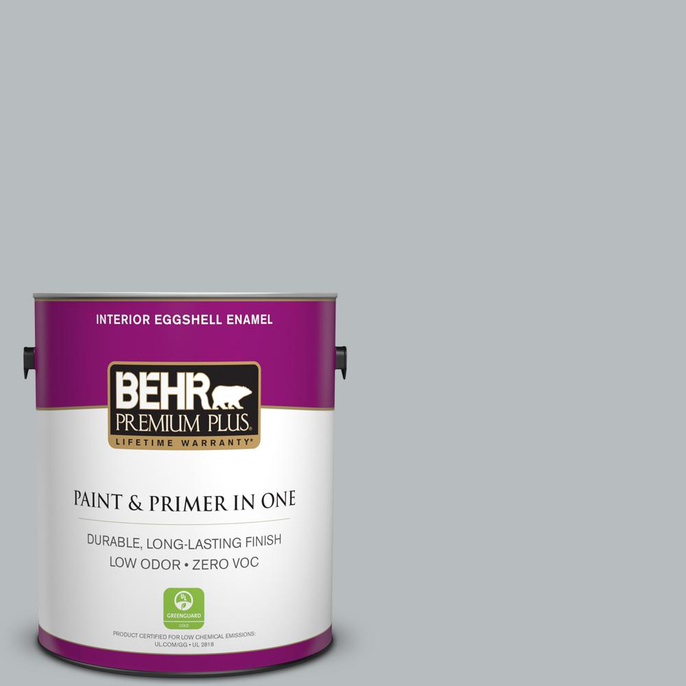 1 gal. #PPU18-05 French Silver Zero VOC Eggshell Enamel Interior Paint