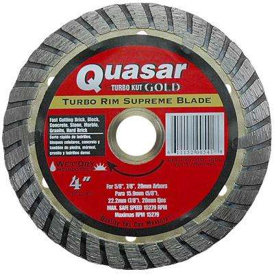 Turbo Kut Gold 4 in. Turbo Rim Supreme Diamond Blade