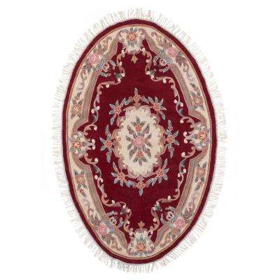 Imperial Wine 3 ft. x 5 ft. Oval Area Rug