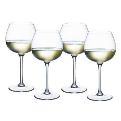 Purismo 13.2 oz. Lead Free Crystal Soft Rounded White Wine Glass (4-Pack)