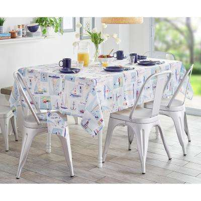 Sail Away Multi Stain Resistant Indoor Outdoor Tablecloth