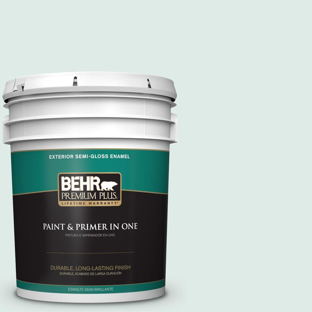 5-gal. #480E-1 Country Mist Semi-Gloss Enamel Exterior Paint