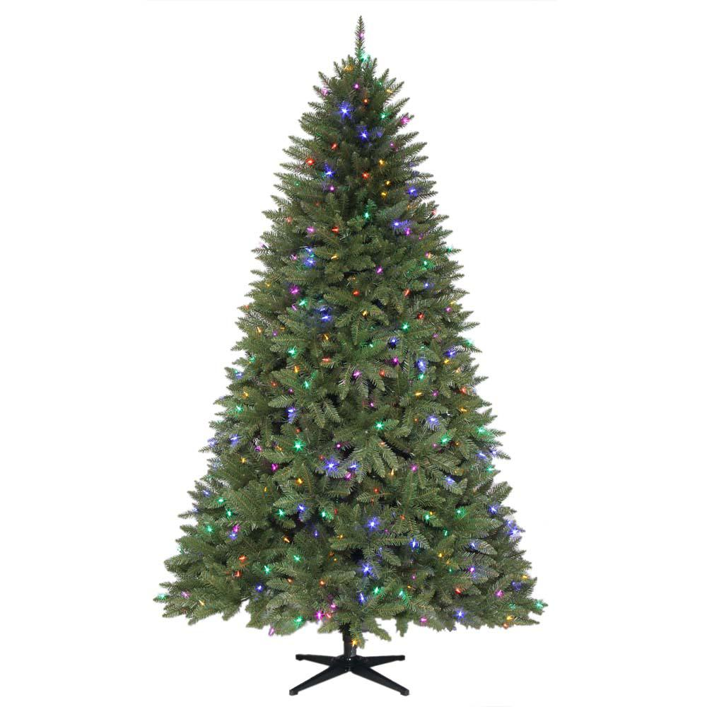 Artificial Christmas Trees Pre Lit Led: Home Accents Holiday 7.5 Ft. Pre-Lit LED Matthew Fir