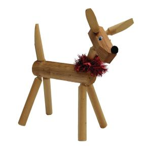 19 in. Standing Wood Rustic Deer