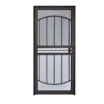 32 in. x 80 in. 555 Series Tuscany Black Steel Prehung Security Door