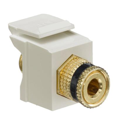 QuickPort Binding Post Connector with Black Stripe, Ivory