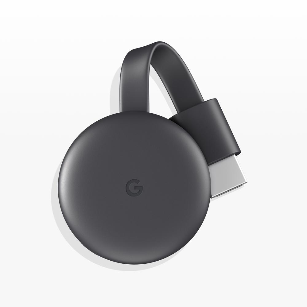 Google Chromecast (Latest Model) Streaming Media Player in Charcoal