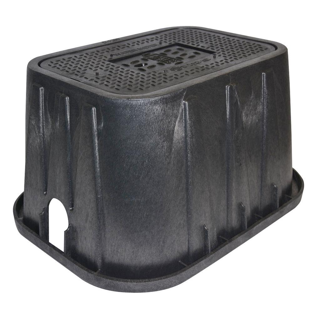 NDS 14 in. x 19 in. x 12 in. Meter Box and Cast Iron Drop...