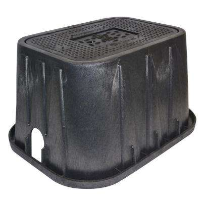 14 in. x 19 in. x 12 in. Meter Box and Cast Iron Drop-In Reader Cover