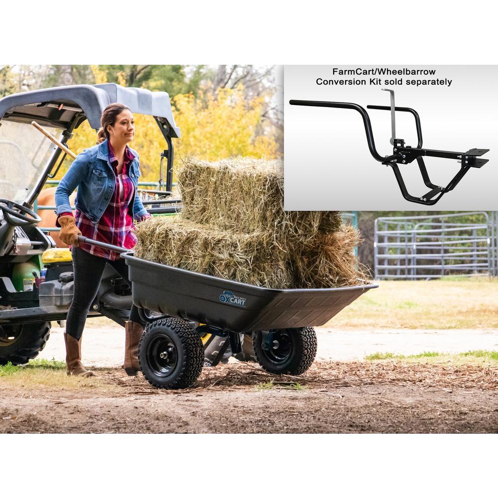 Ox Cart Oxcart Pro Grade 12 Cu Ft 14 Cu Ft Lift Assist And Swivel Dump Cart Gtmz208192p The Home Depot