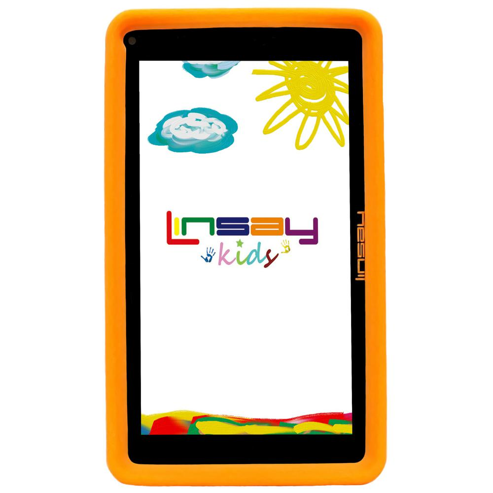 LINSAY 7 in. 2GB RAM 16GB Android 9.0 Pie Quad Core Tablet with Orange Kids Defender Case was $119.99 now $59.99 (50.0% off)