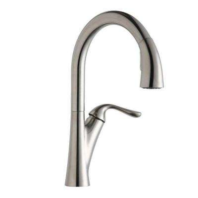 Harmony Single-Handle Pull-Down Sprayer Kitchen Faucet in Lustrous Steel