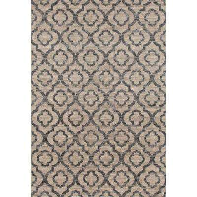 Moroccan Trellis Pattern High Quality Soft Cream 5 ft. x 7 ft. Area Rug
