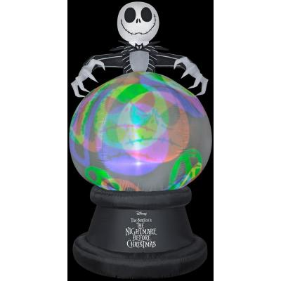 9 ft. H Inflatable Projection Airblown Globe-NeonGlo-NBC with Hovering Jack-LG-Disney (YOGPl)