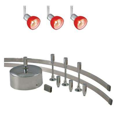 Low Voltage 150 Watt Monorail Kit With 3 Red Spots