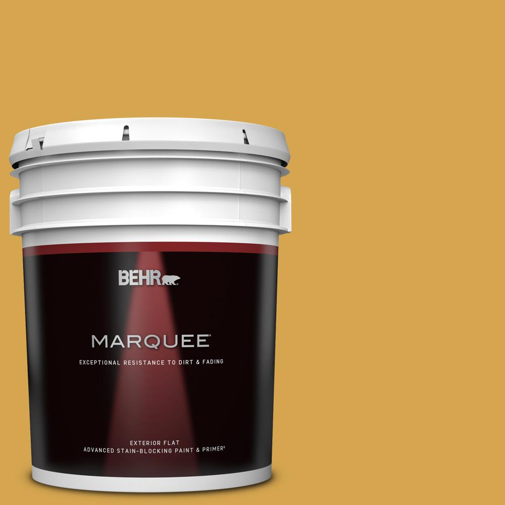 Behr Marquee 5 Gal M290 6 Plantain Chips Flat Exterior Paint And Primer In One 445305 The Home Depot