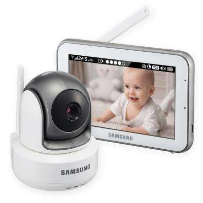 5 in. Bright VIEW Baby Video Monitor System IR Night Vision PTZ