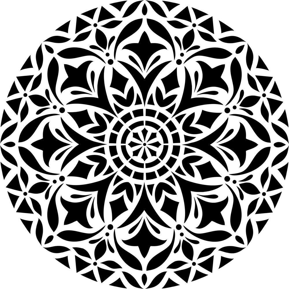 designer stencils devi mandala stencil-fs027