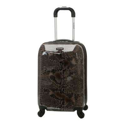 Vision 20 in. Snake Hardside Carry-On Suitcase