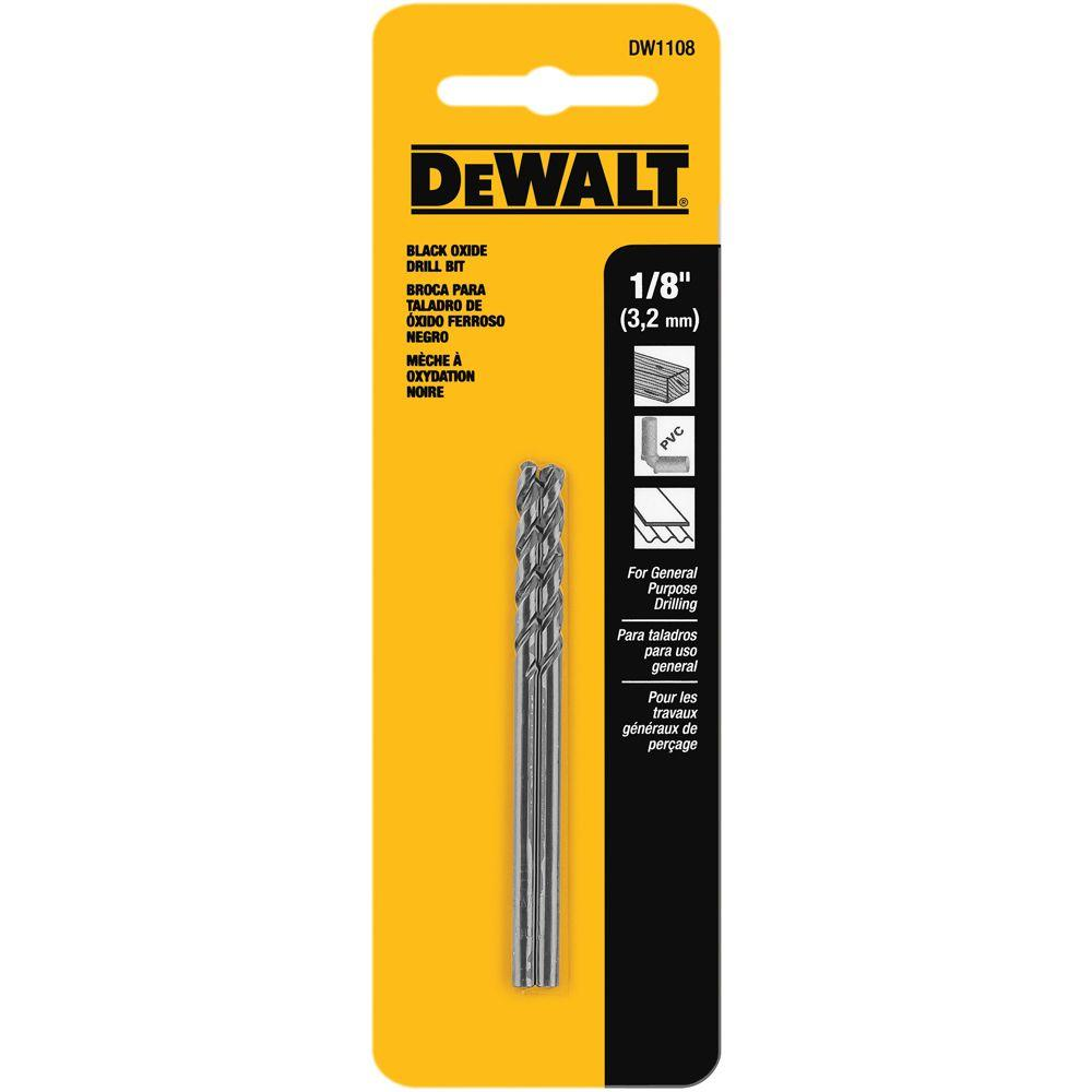 1/8 in. Black Oxide Split Point Drill Bit (2-Pack)