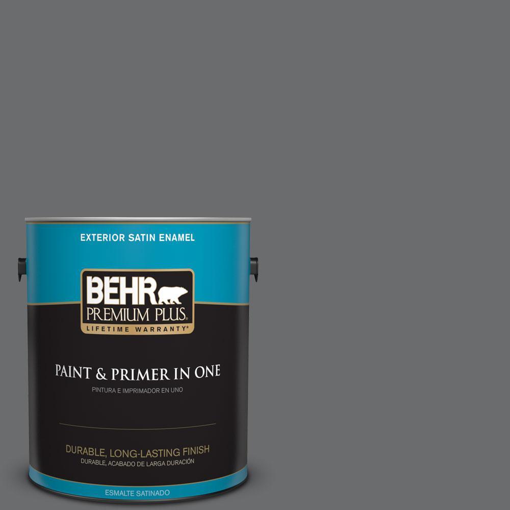 1-gal. #770F-5 Dark Ash Satin Enamel Exterior Paint