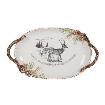20 in. Forest Frost Holiday Platter