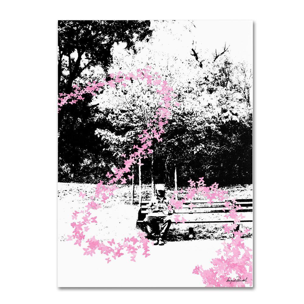 14 in. x 19 in. Pink Butterflies Canvas Art