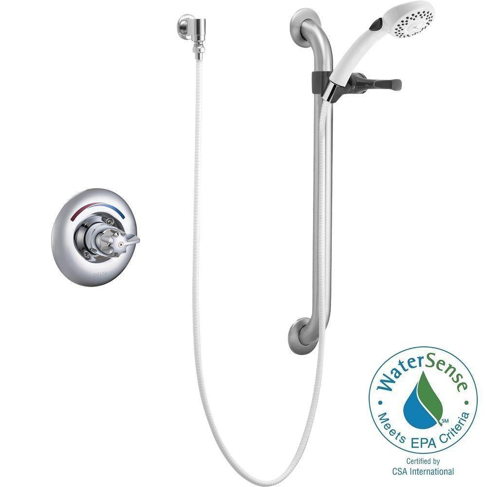 Commercial Single-Handle 2-Spray Tub and Shower Faucet in Chrome (Valve Not