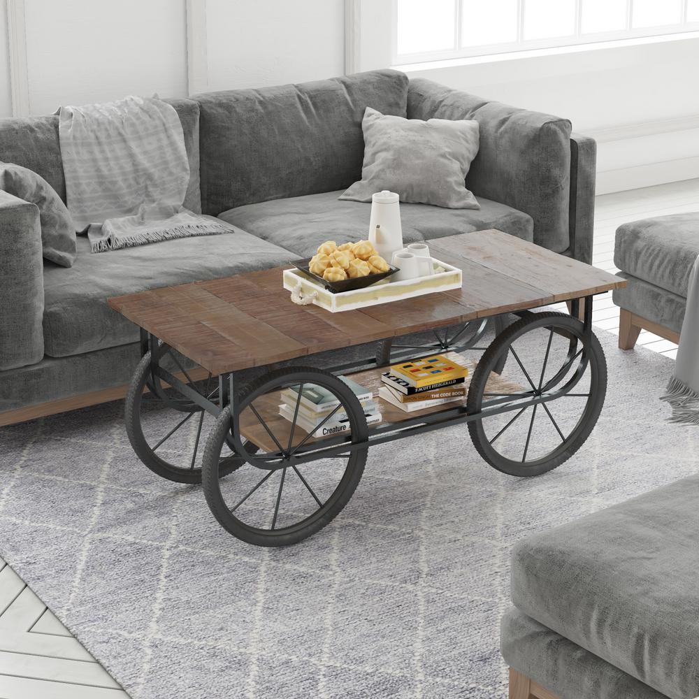 Yosemite Home Decor Naturally Distressed Coffee Table
