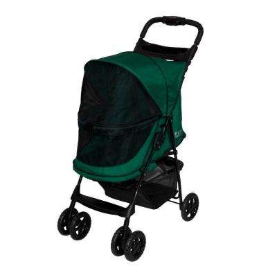 24 in. L x 12 in. W x 22 in. H Happy Trails No-Zip Stroller in Emerald