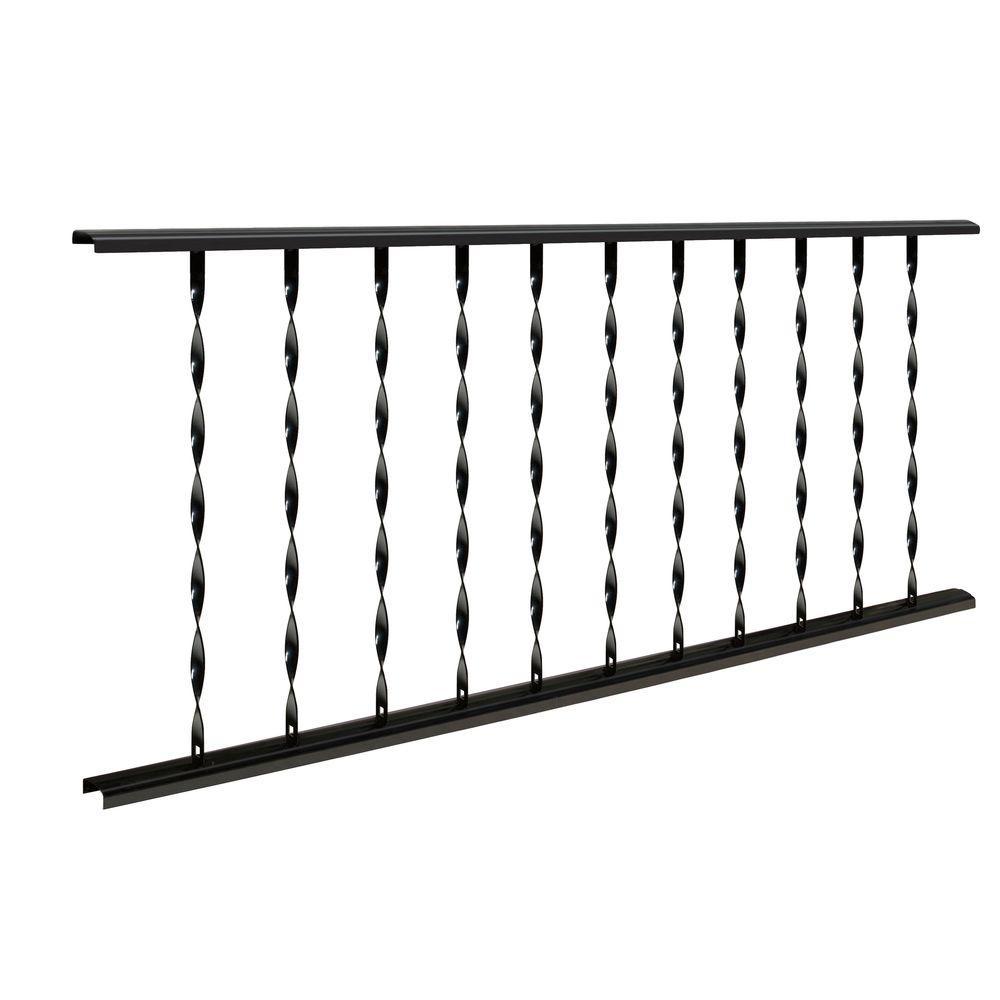 Village Ironsmith Classic 6 Ft. X 28 In. Black Steel Rail