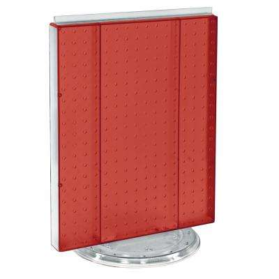 20.25 in. H x 16 in. W Revolving Pegboard Counter Display Red