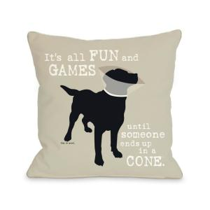 It's All Fun and Games 16 inch x 16 inch Decorative Pillow by