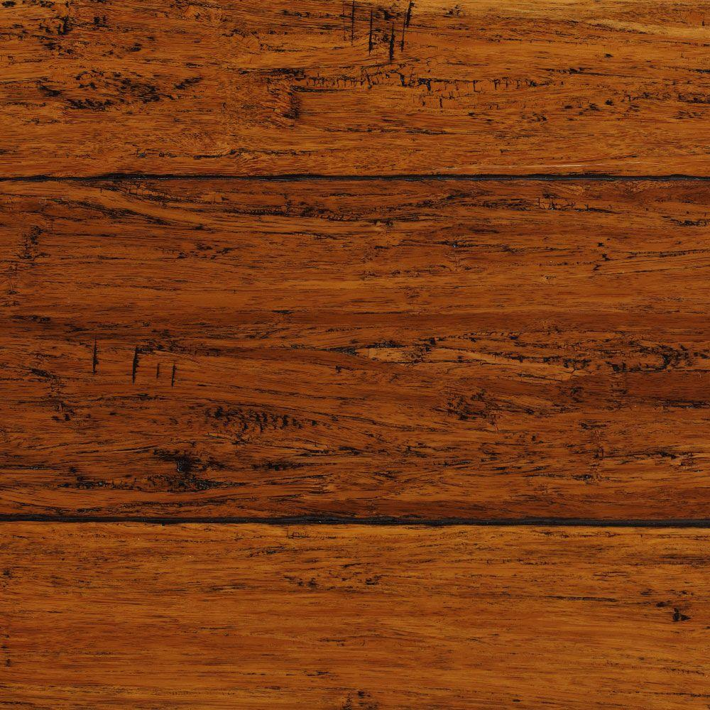 Home Decorators Collection Hand Scraped Strand Woven Dark Mahogany 3/8 In.  T X 5 1/8 In. W X 36 In. L Engineered Click Bamboo Flooring AM1319E   The  Home ...