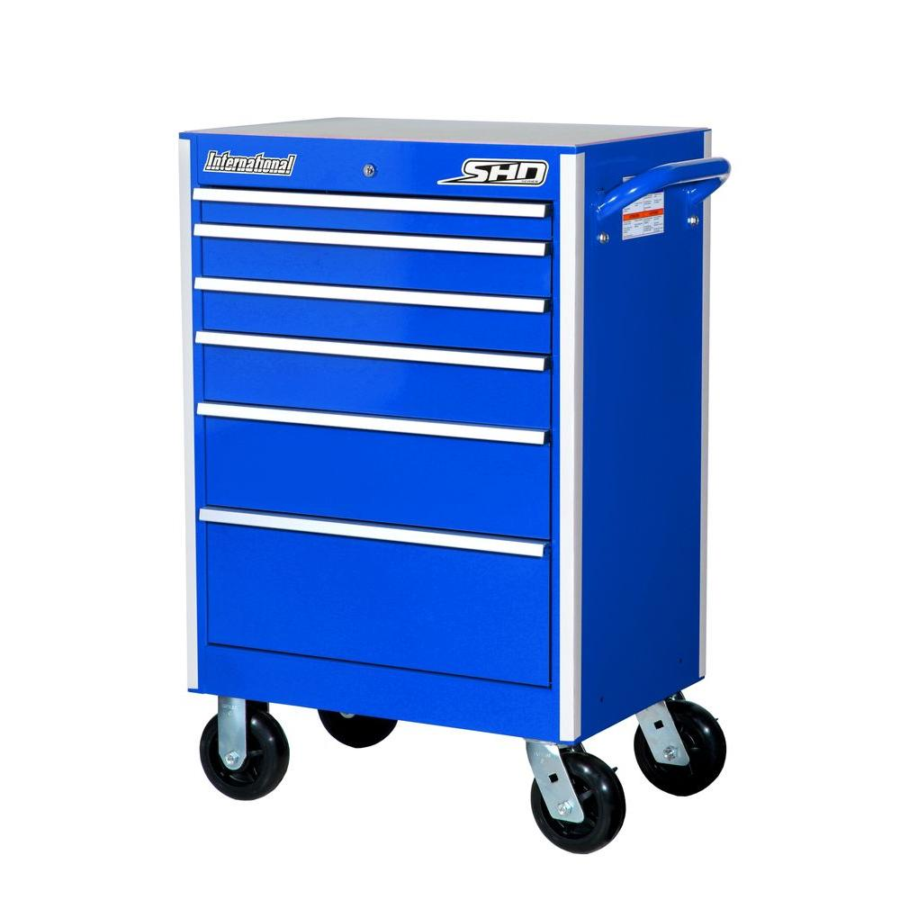 27 in. SHD Series 6-Drawer Cabinet, Blue