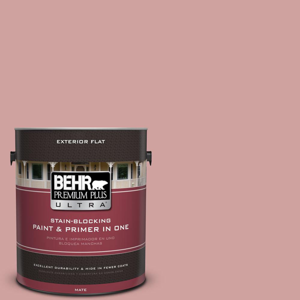 BEHR Premium Plus Ultra 1-gal. #S150-3 Rose Pottery Flat Exterior Paint