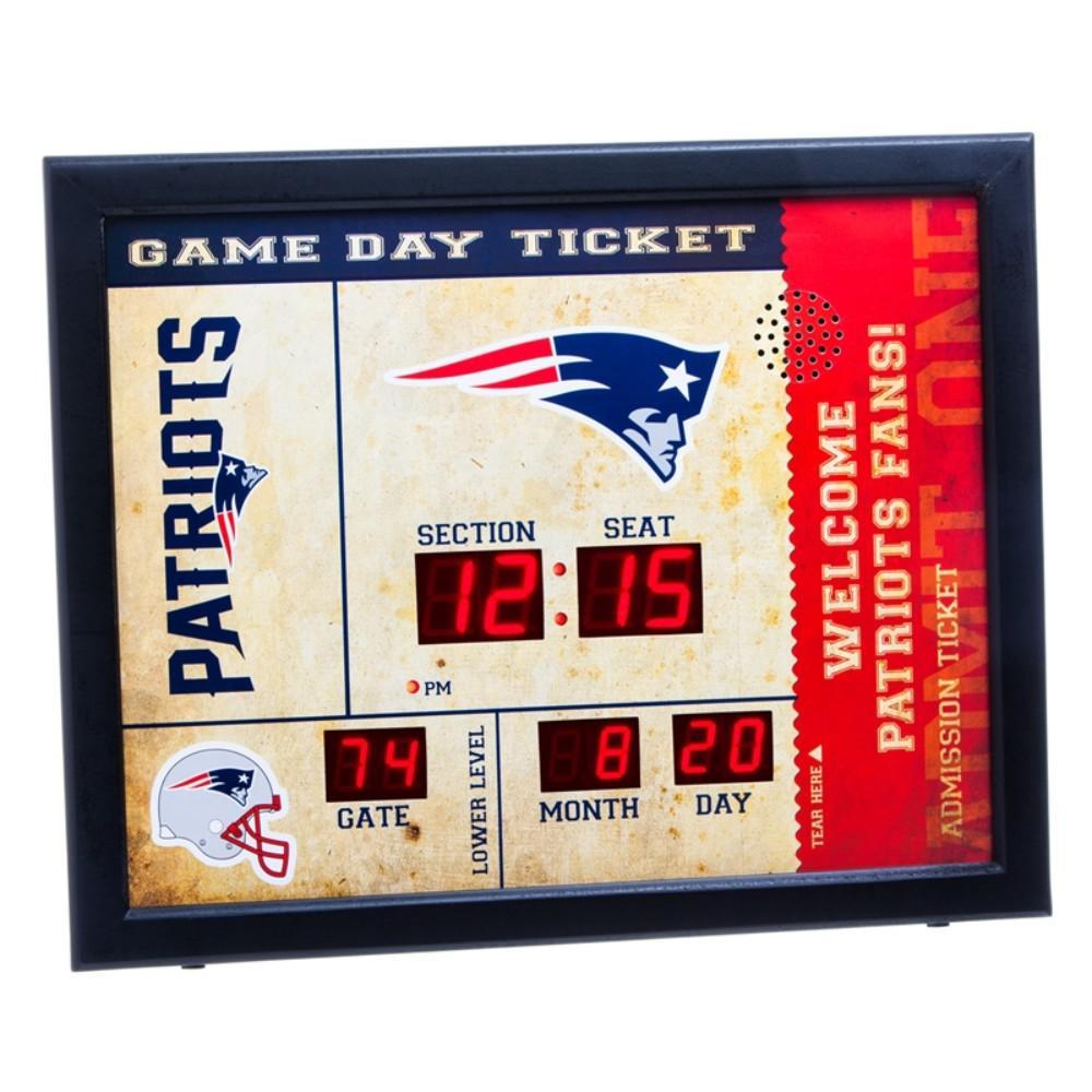 New England Patriots NFL Bluetooth Ticket Stub Wall Clock