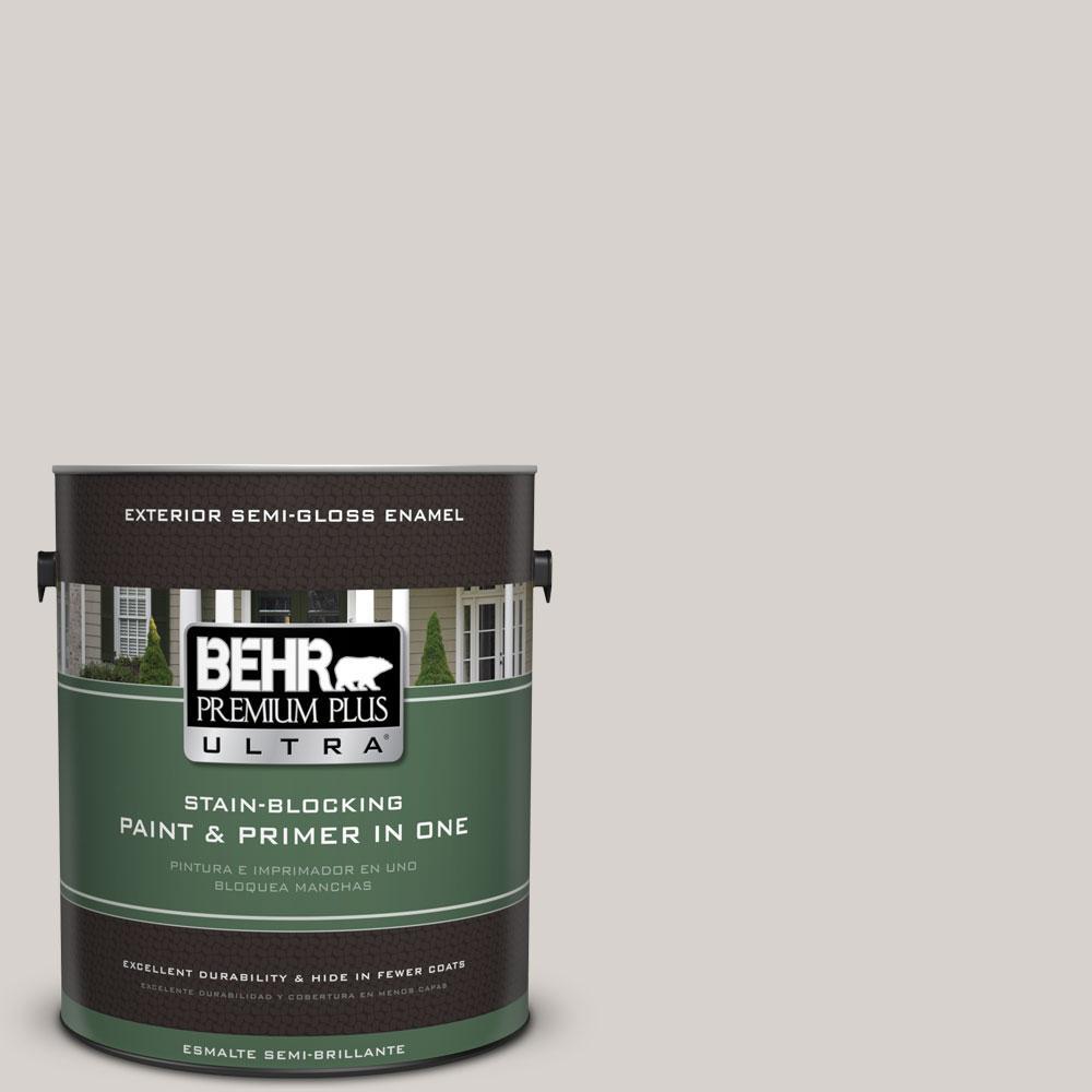 BEHR Premium Plus Ultra 1-gal. #PWN-72 Baked Biscotti Semi-Gloss Enamel Exterior Paint