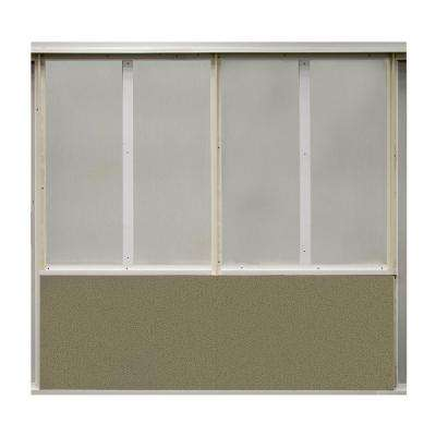 20 sq. ft. Cumin Fabric Covered Bottom Kit Wall Panel